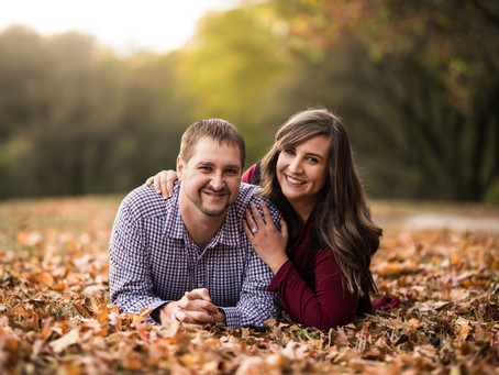 Memorial Park Engagement - Omaha, NE | Julia & Tim