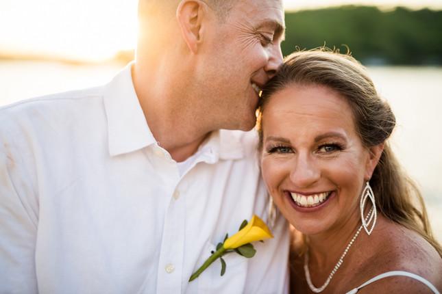 Lake of the Ozarks Wedding Couple Sunset
