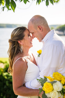 Lake of the Ozarks Wedding Couple After