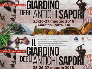 """""""IL GIARDINO DEGLI ANTICHI SAPORI""""   A PISA, un bellissimo evento storico enogastronomico ricco di g"""