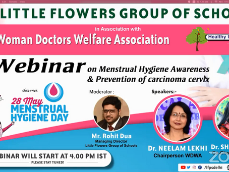 Little Flowers Group of Schools has organized a webinar on MENSTRUAL HYGIENE