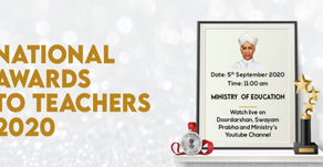 National Awards To Teachers 2020 to Be Live on Doordarshan YouTube Channel.