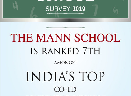 The Mann School is Ranked 7th amongst India's top Co-Ed Residential Schools North India.