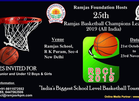 Ramjas Foundation Hosts India's Biggest School Level Basketball Tournament RBCL 2019