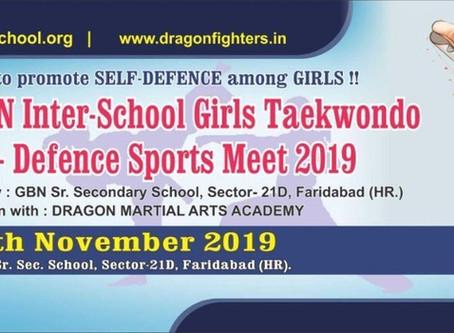 Encourage Self Defence & Girls Empowerment - Theme of Upcoming Girls Taekwondo & Self Defence Meet