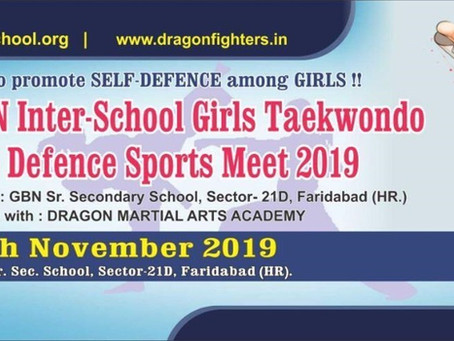Encourage Self Defence & Girls Empowerment - Theme of Upcoming Girls Taekwondo & Self Defence Meet