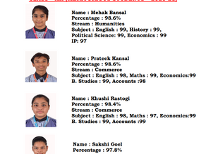 Little Flowers Public Sr Sec School,Shahdara, Once again exhibited illustrious Class XII CBSE result