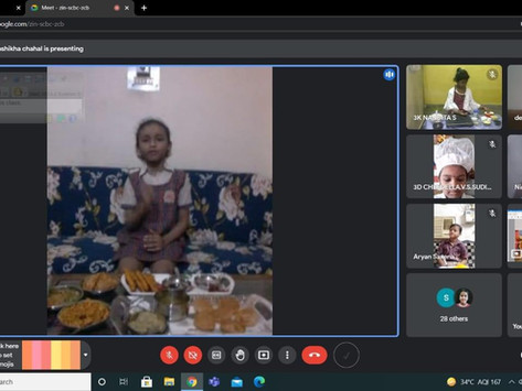 Video Conference  among students of DAV Public School, RK PuramDelhi and KRM Public School...