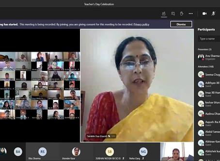 A special virtual assembly was organised by the students of Class XII to mark the occasion ...