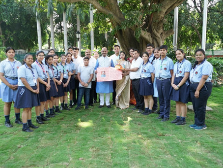 VSPK International School's Students Visit of Parliament
