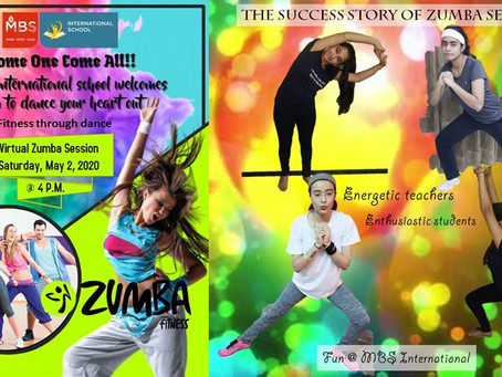 MBS International School, Dwarka, Delhi took an initiative to conduct a virtual Zumba Session
