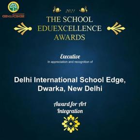"Delhi International School Edge was awarded with ""The School Of Eduexcellence Award"""