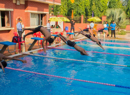 Inter-House Swimming Competition 2019 was held at The Mann School
