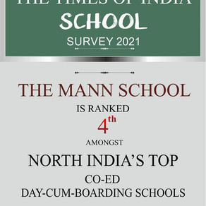 The Mann School has been Ranked 4th amongst the leading Co-Ed Day-cum-Boarding Schools of NorthIndia