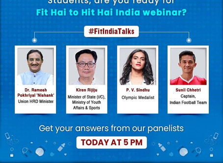 Fit India Talks for Students Today at 5pm