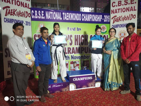 Prerna Saini from Bal Bhawan International School Dwarka has won Silver Medal CBSE National Taekwond