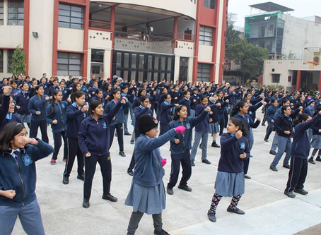 A Self Defense Training program for was organised for students at Bharat National Public School