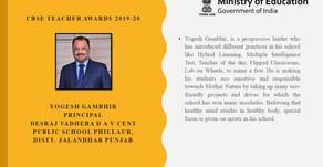 CBSE teachers award 2019-20 education minister felicitates 38 teachers principals