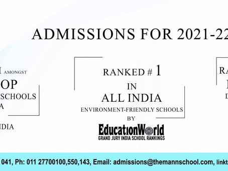 Admissions Open for the session 2021-22 in India's Top Day-Cum-Boarding School, The Mann School