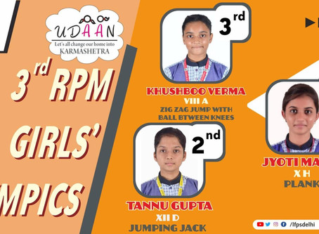 Little Flowers Group of Schools Bagged 3 Positions during RPM's third virtual girls sports fest...