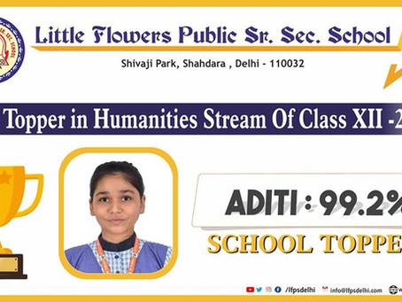 Aditi has set the bar very high for the coming batch by scoring 99.2% marks in 𝗖𝗕𝗦𝗘 class XII...