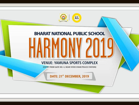 Harmony 2019 BNPS - Annual Day Celebration by Bharat National Public School, Ram Vihar, Delhi