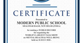 Modern Public School Shalimar Bagh made a World Record for conducting the Largest Talk Show on...