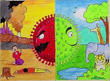 Effects of coronavirus on Earth Poster - Mayank Singh, Ramjas School, RK Puram