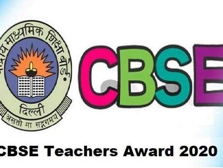 CBSE Board shall be holding 'CBSE Teachers Award 2019-20' function virtually tomorrow