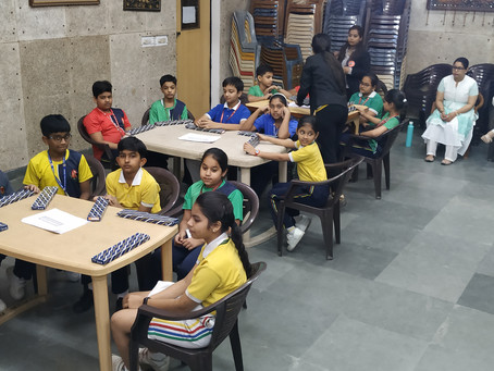 Students of VSPK International learned Mathematical calculations with the help of Soroban tool