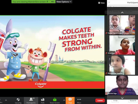 DAV Public School RK Puram organized an Online session on Oral Care & Hygiene for students...