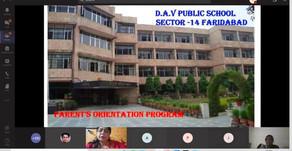 VIRTUAL PARENT ORIENTATION IN DAVPS SEC 14 Faridabad.