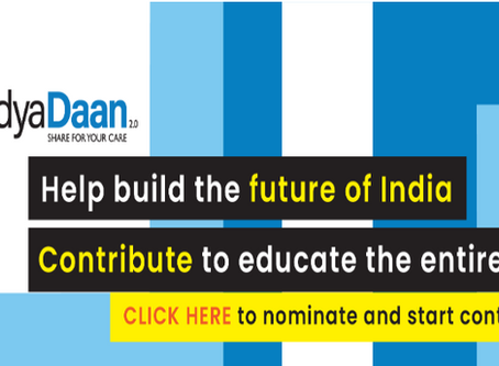 Vidya Daan calls to the nation, particularly individuals & organizations to contribute in e-learning