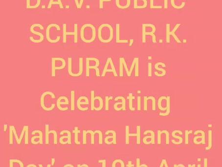 DAV Public School,RK PURAM Class V conducted a beautiful and inspiring virtual assembly