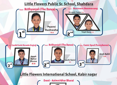 """Stellar performance by Students of Little Flowers Public Sr Sec School during """"Anujyot"""""""
