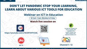 """NCERT is organising a webinar on """"Use Technology in Education"""""""