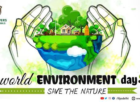 World Environment Day Celebration at Little Flowers Public Sr Sec School, Shivaji Park, Shahdara