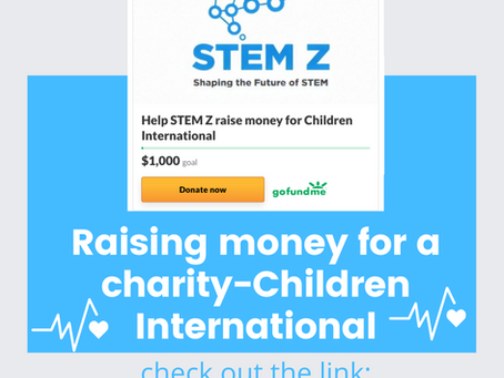 Stem Z is raising money for a charity called Children International