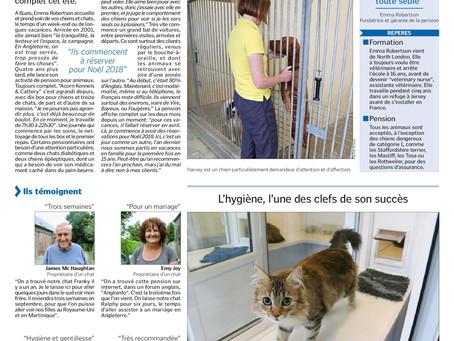 Report in La Manche Libre August 2017
