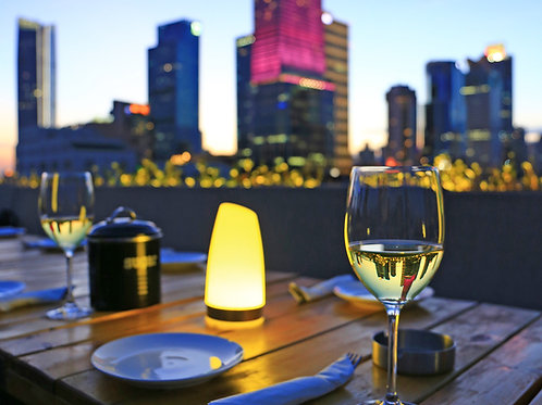 4-Hour Nighttime Skyline Tour from Rooftop Lounges across the Rivers - $399.00