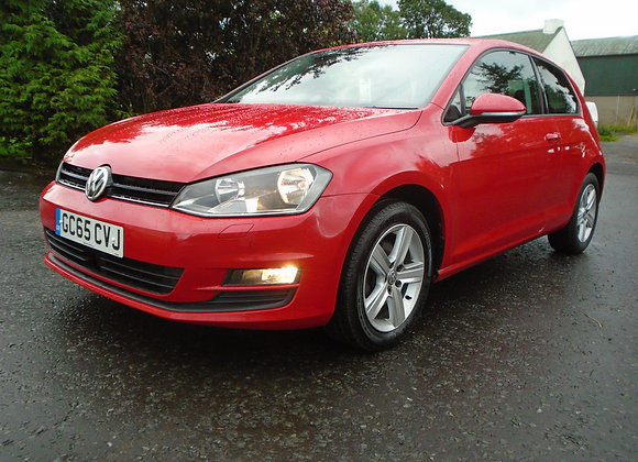 2016 VOLKSWAGEN GOLF 1.6TDI 3 DOOR MATCH
