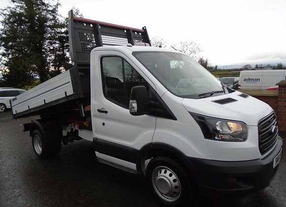 2018 FORD TRANSIT 350 FORD 1 STOP ALLOY TIPPER.