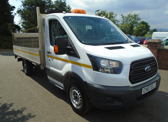 2017 FORD TRANSIT 350 DROPSIDE C/W TAILLIFT 130HP.