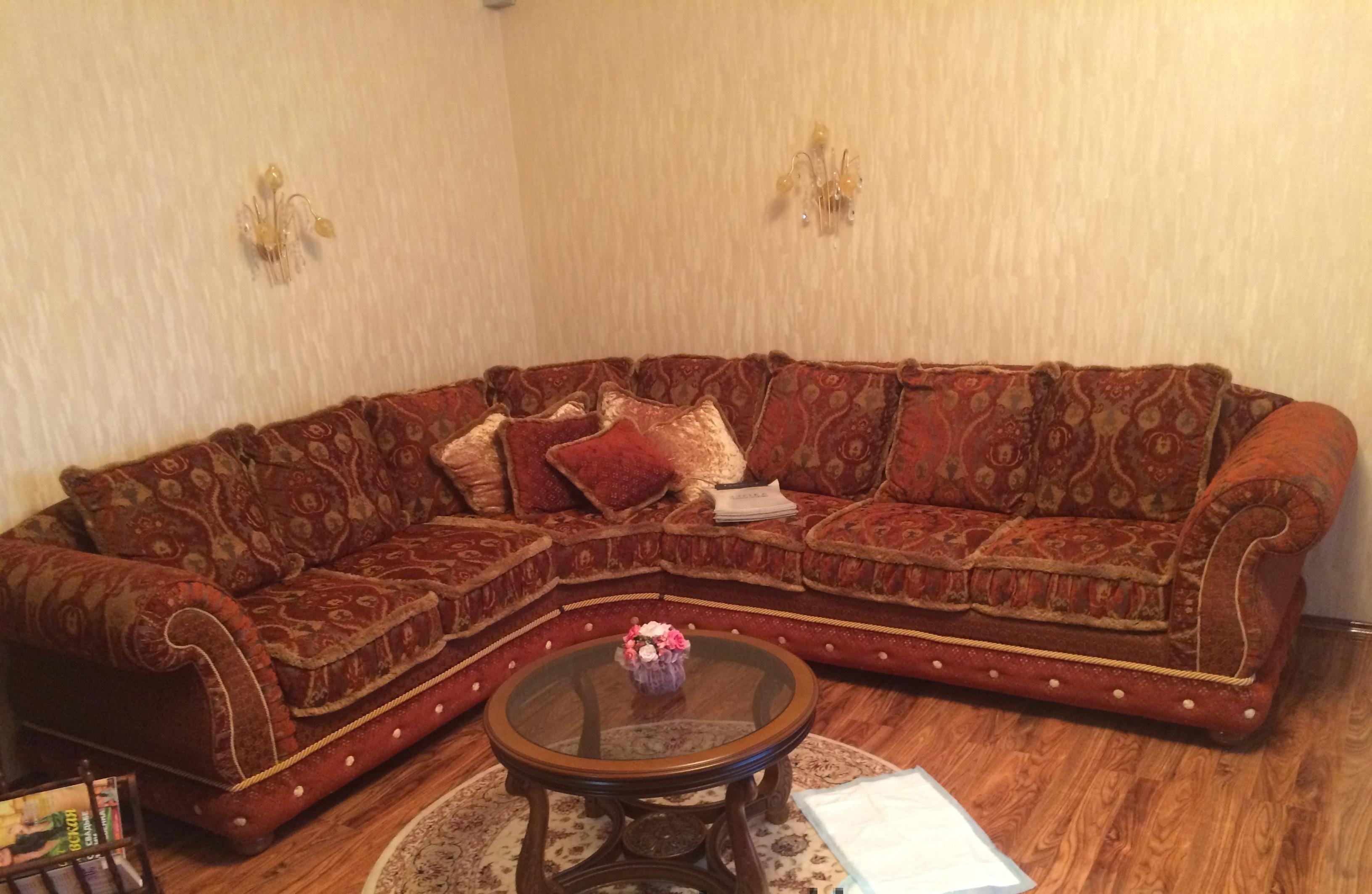 Обивка угловой диван флок до
