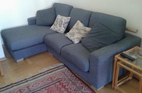 Перетяжка диван угловой IKEA после