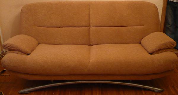 Перетяжка диван флок после