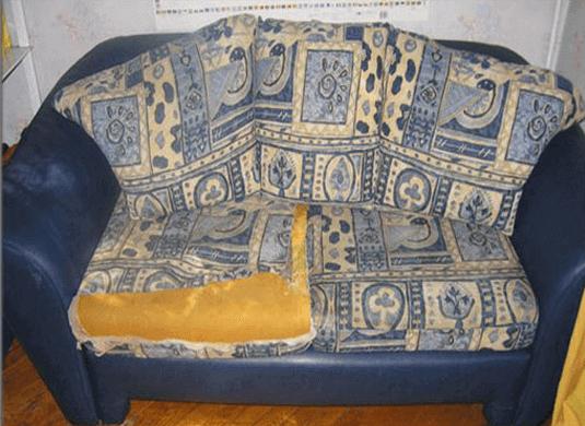 Обивка дивана на дому до