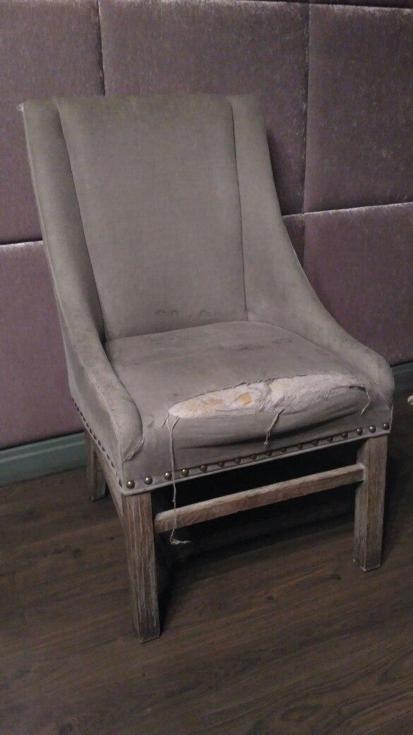 Обивка кресла рогожка до