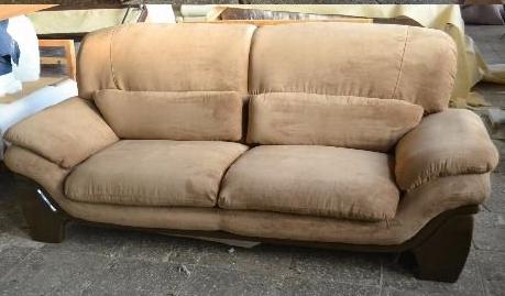 Перетяжка двухместный диван после