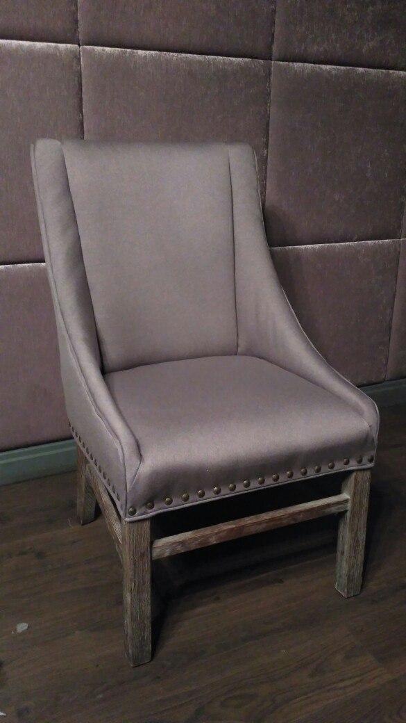 Обивка кресла рогожка после